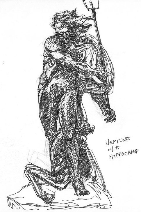 Neptune with Hippocamp