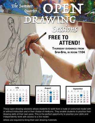 Open Drawing Sessions, Flyer