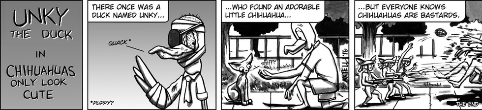 It seems that Unky has a hard time discerning between the many different types of felines. So this week he's trying his hand at dogs instead!