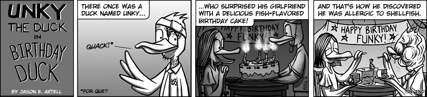 Unky took a break from playing games this week to celebrate a very important occasion.