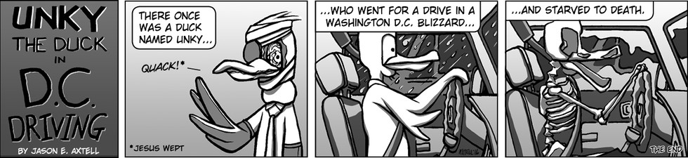 NASA got Unky home from the frozen rigors of Mars only for Unky to realize that things were not quite so different here in DC…
