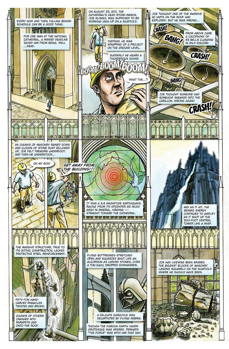 Redistricted: Act of God Page 1, Written by Rebecca Goldfield, Edited by Matt Dembicki