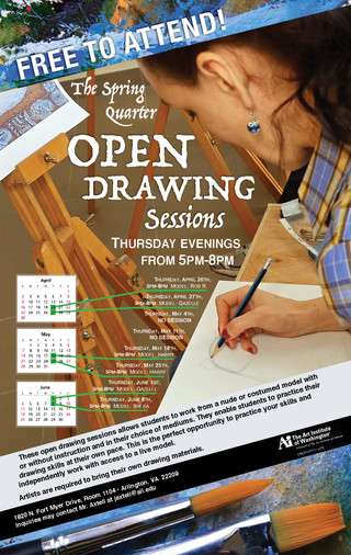 Open Drawing Sessions, Poster