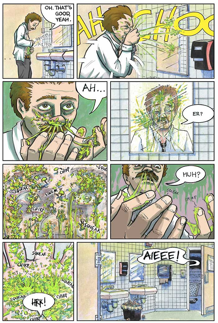 The Strange Fungus in Mr. Winslow, Page 7