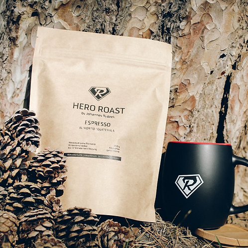 Set: Mokuska Kaffee Hero Roast + Tasse by JR
