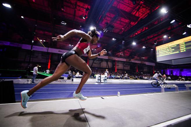 Maryse Luzolo rennt