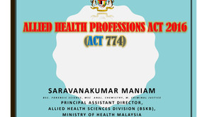ALLIED HEALTH PROFESSIONAL ACT 2016 (ACT 774)