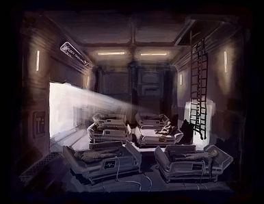 Earthbound Concept Art Supply ship inbound.jpg