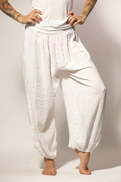 Harem Yoga Pants - Light Grey/Beige