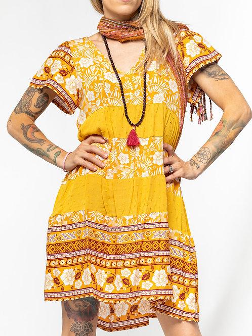 Floral Print Layered Dress
