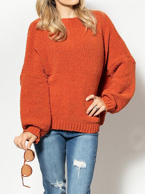 Nasty Gal Rust Orange Sweater