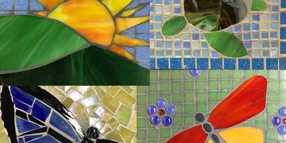 Glass Mosaic Decorative Garden Stone