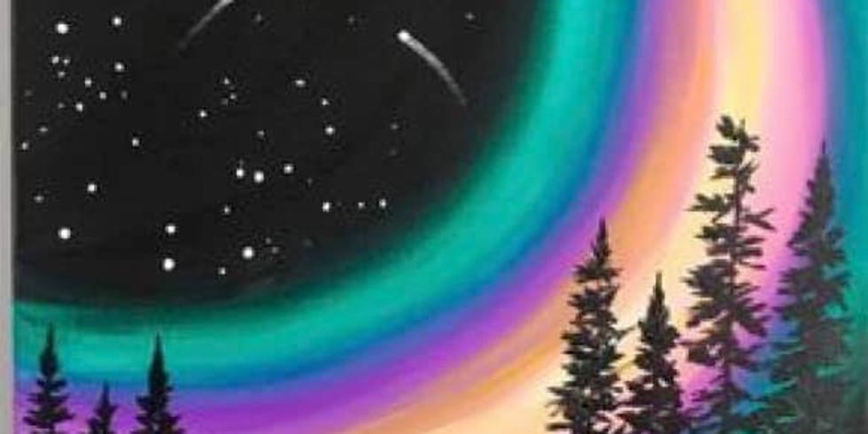 Aurora Borealis Paint Night