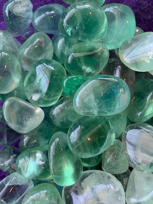 Fluorite Tumbled Stones (4 pieces)
