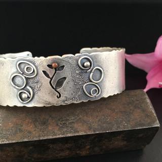 Silver and Copper Cuff