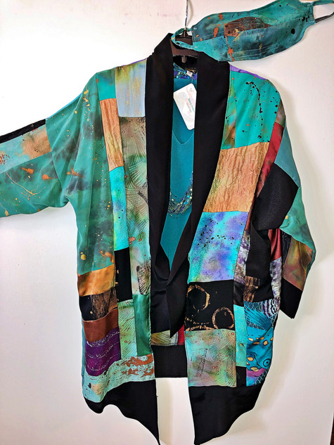 Silk Kimono with Mask