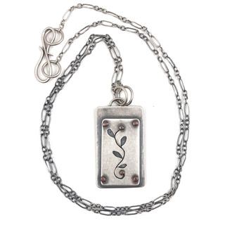 Sterling Silver Necklace with Copper Rivets