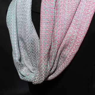 mobius cowl silk handpainted