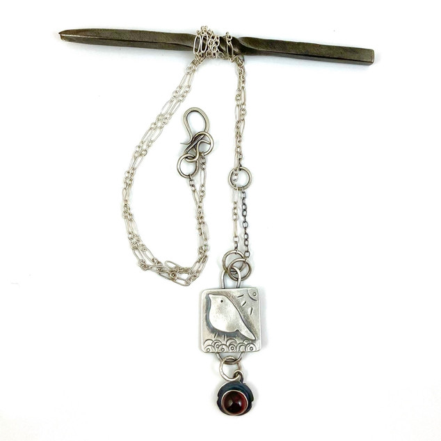 Sterling and Garnet Necklace