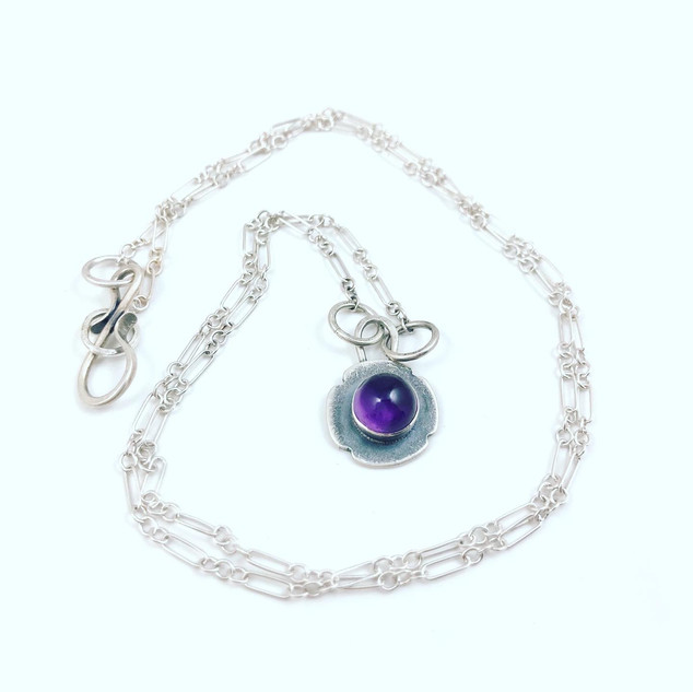 Silver and Amethyst Necklace