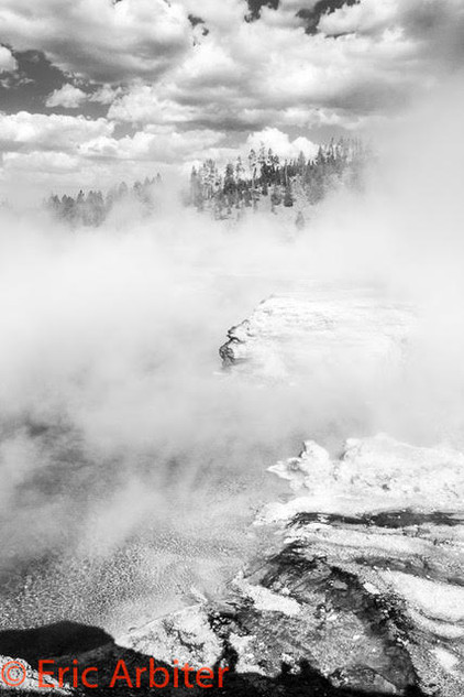 Formations, Mists, Clouds, Yellowstone National Park