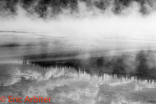 Reflections, Mists, Yellowstone National Park