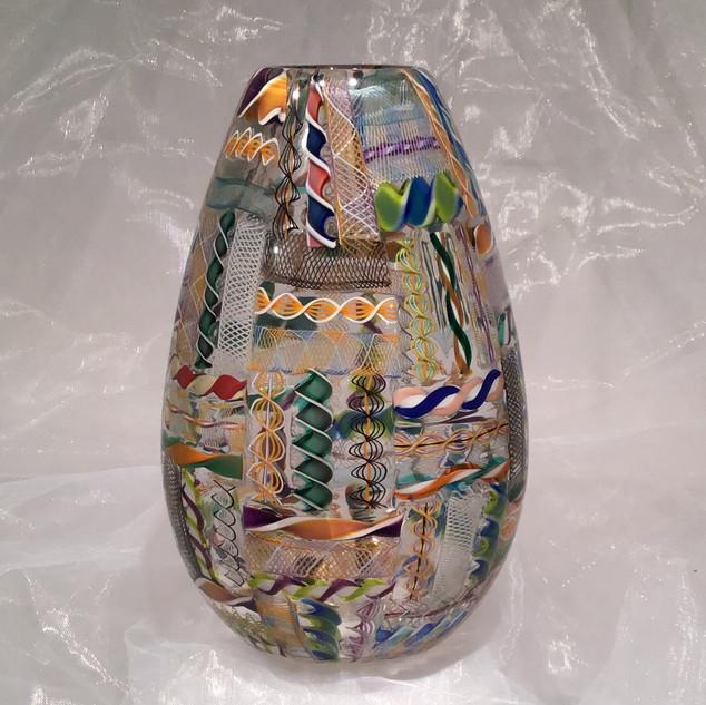 Cane Quilt Vase
