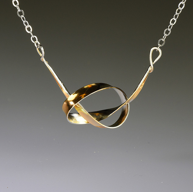 Knot Necklace--Gold Plated