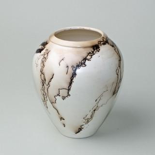 Feather Vase II, Naked Raku