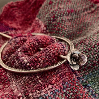 Sterling Silver with Casting Shawl Pin