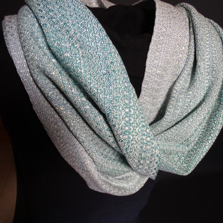 pastel mobius cowl handpainted silk