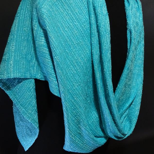 turquoise silk mobius