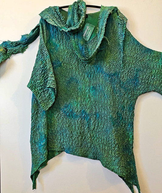 Hand Dyed Silk Top with Scarf