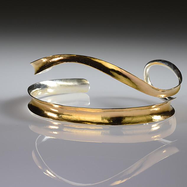 Two-Strand Ribbon Bracelet - Gold Plated
