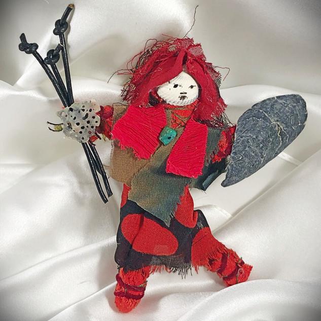 Spirit Warrior Doll Pin