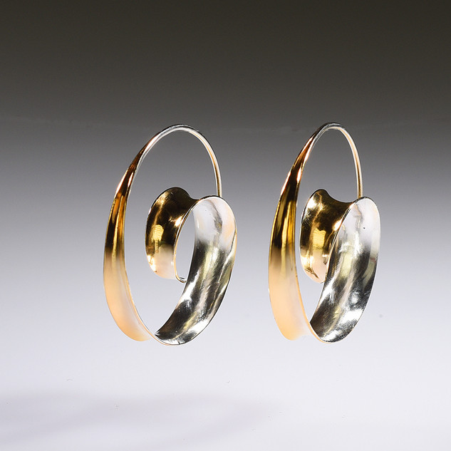 Spiral Earrings - Gold Plated