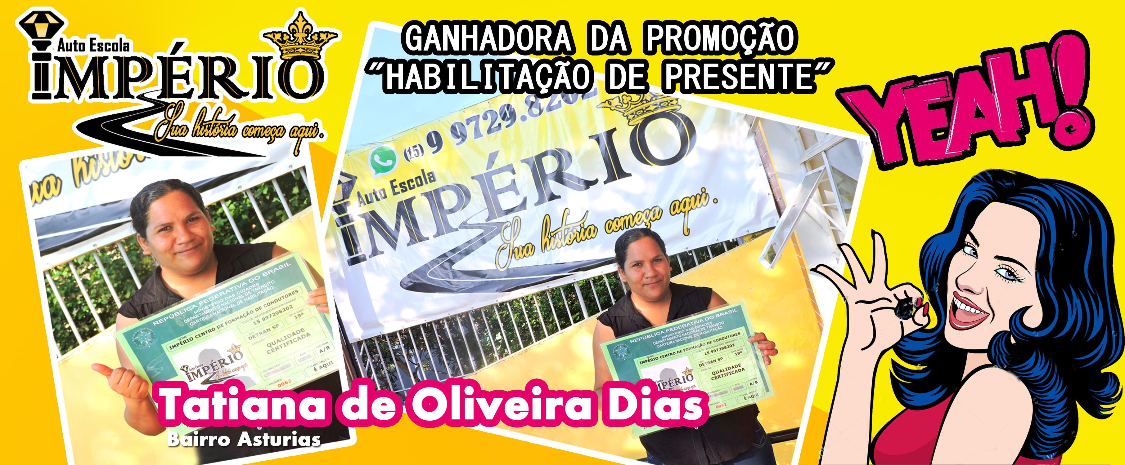 Ganhadora da Promoção