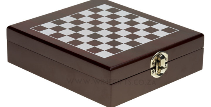 4 Piece Wine Accessory and Chess Set