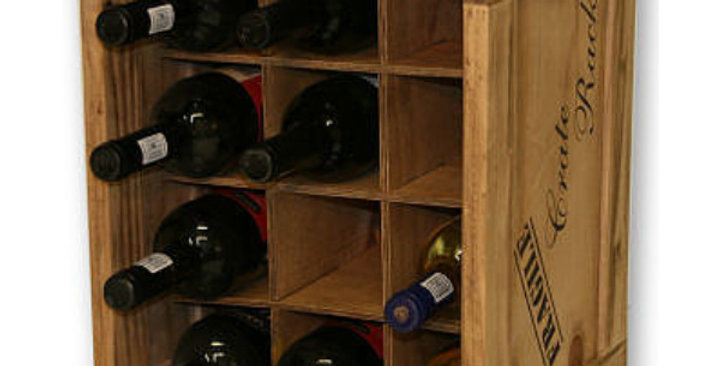 12 Bottle Individual Compartment Wine Crate