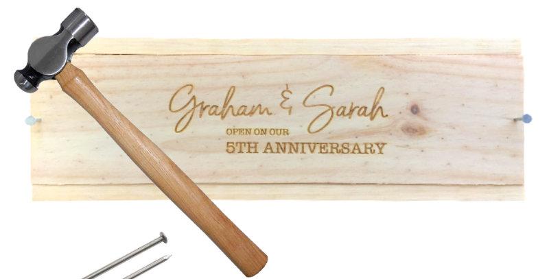Nail Down Wedding Anniversary Box