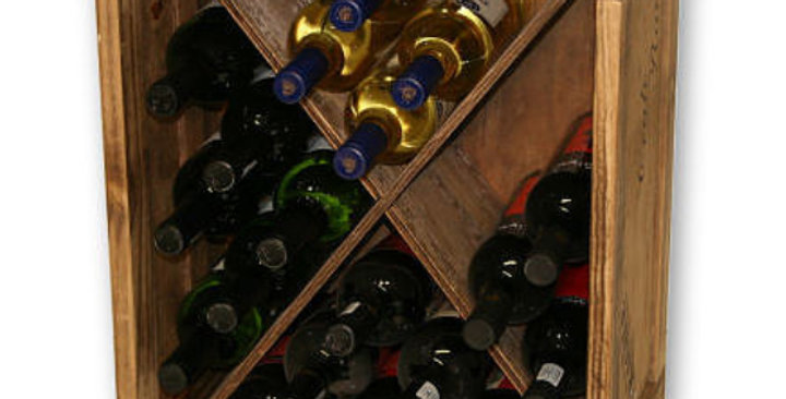 24 Bottle Triangle Compartment Wine Crate