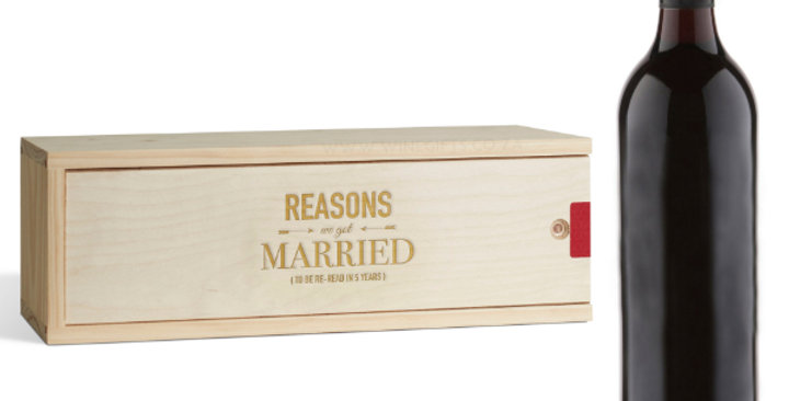 Unlabelled Red Wine with Engraved Box