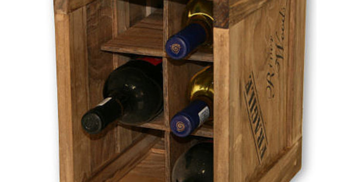 6 Bottle Individual Compartment Wine Crate