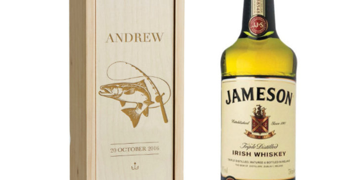 Jameson Whiskey with Engraved Box