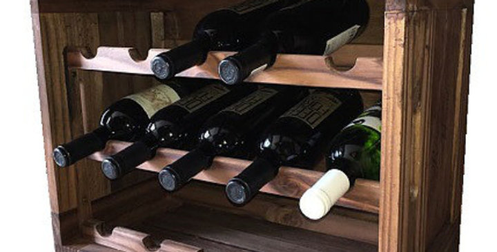 15 Bottle Scallop Wine Crate