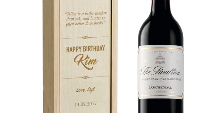 Boschendal and Engraved Box Set