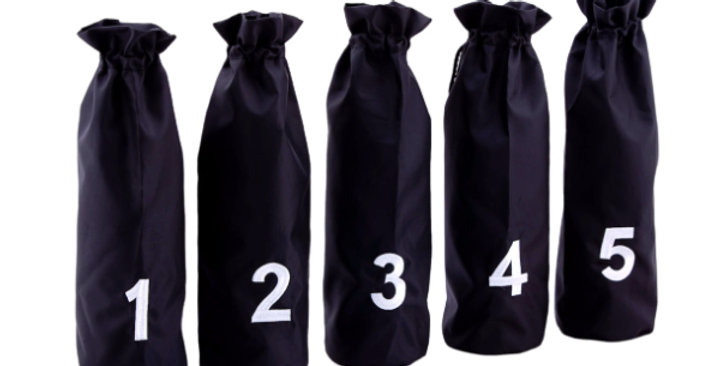 Blind Tasting Bags with Numbers (Set of 5)