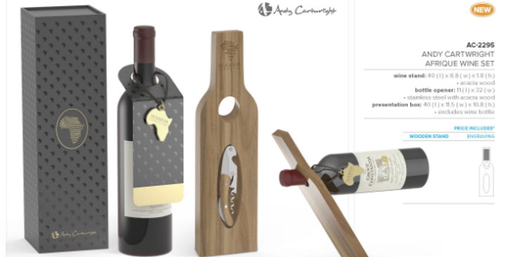Andy Cartwright Wine Holder and Opener Set