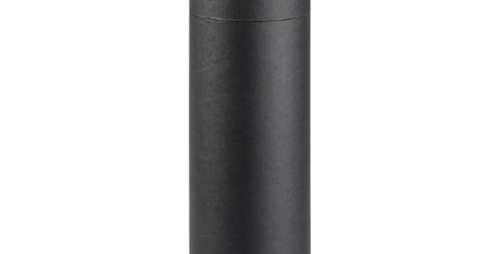 One Bottle 750ml Cardboard Wine Tube - Black