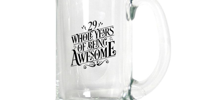 Engraved 500ml Beer Mug
